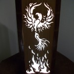 Phoenix Rising Laser Cut Lamp