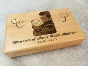Engraved Memory Keepsake Box