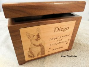 Large dog memory box urn
