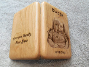 photo engraved fly holder for dad