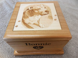 wooden-pet-urn-laser-engraved-photo