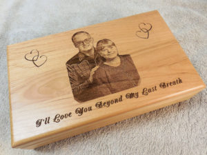 keepsake box laser engraved