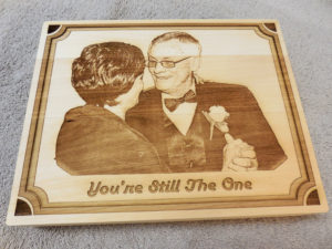 laser engraved anniversary plaque